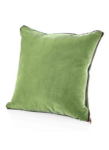The Mia Kadife Yastık 50 x 50 Cm - Yeşil Yeşil